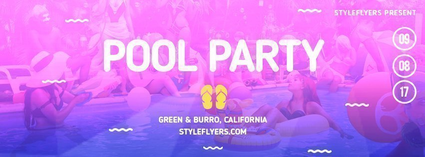 facebook_prev_pool party_psd_flyer