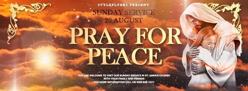 facebook_prev_pray for peace_psd_flyer