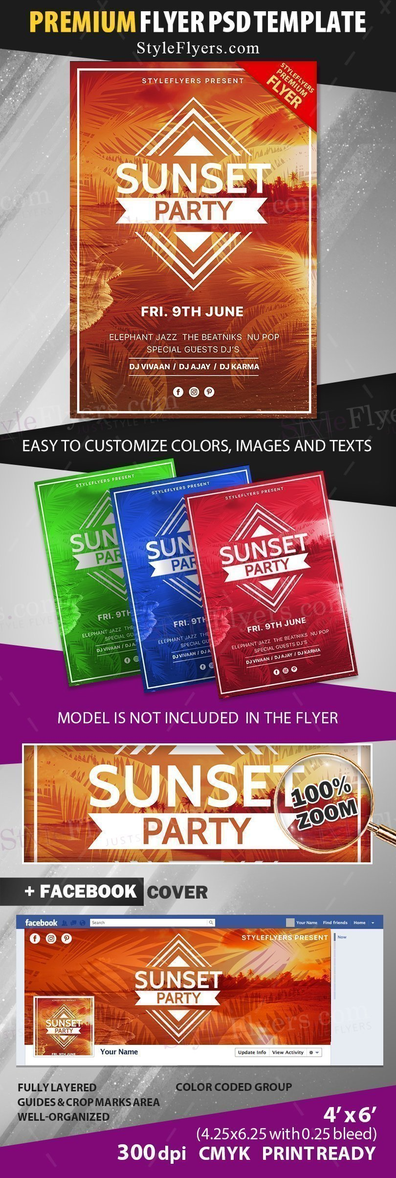 preview_Sunset party_psd_flyer