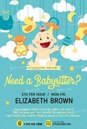 Babysitting PSD Flyer Template