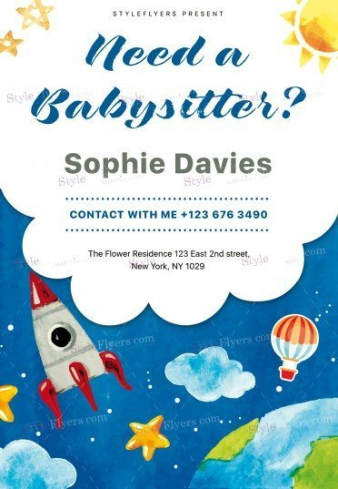 Babysitting Psd Flyer Template   Styleflyers