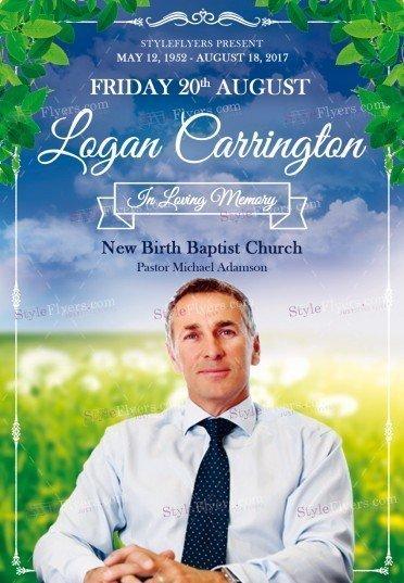 Funeral PSD Flyer Template