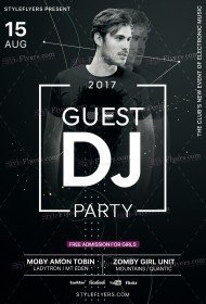 Guest DJ Party PSD Flyer Template