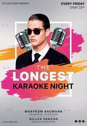 Karaoke Night PSD Flyer Template