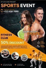 Sports Event PSD Flyer Template