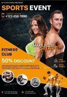 Sports Event PSD Flyer Template