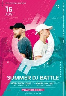 Summer DJ Battle PSD Flyer Template