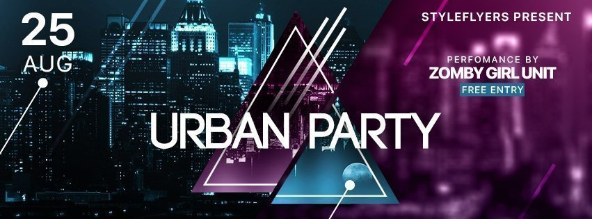 facebook_prev_Urban party_psd_flyer