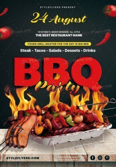 Bbq Psd Flyer Template #20278 - Styleflyers
