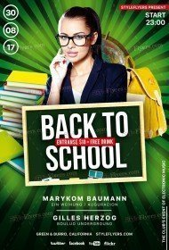 Back To School PSD Flyer