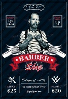Barbershop PSD Flyer Template
