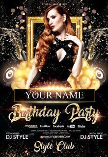 Birthday party free psd flyer template free download 12579 birthday party free flyer psd template maxwellsz
