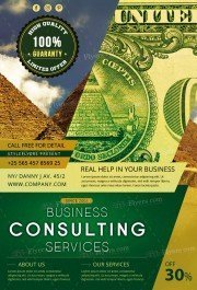 Consulting PSD Flyer Template
