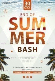 End Of Summer Bash PSD Flyer Template