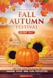 Fall Autumn Festival PSD Flyer Template