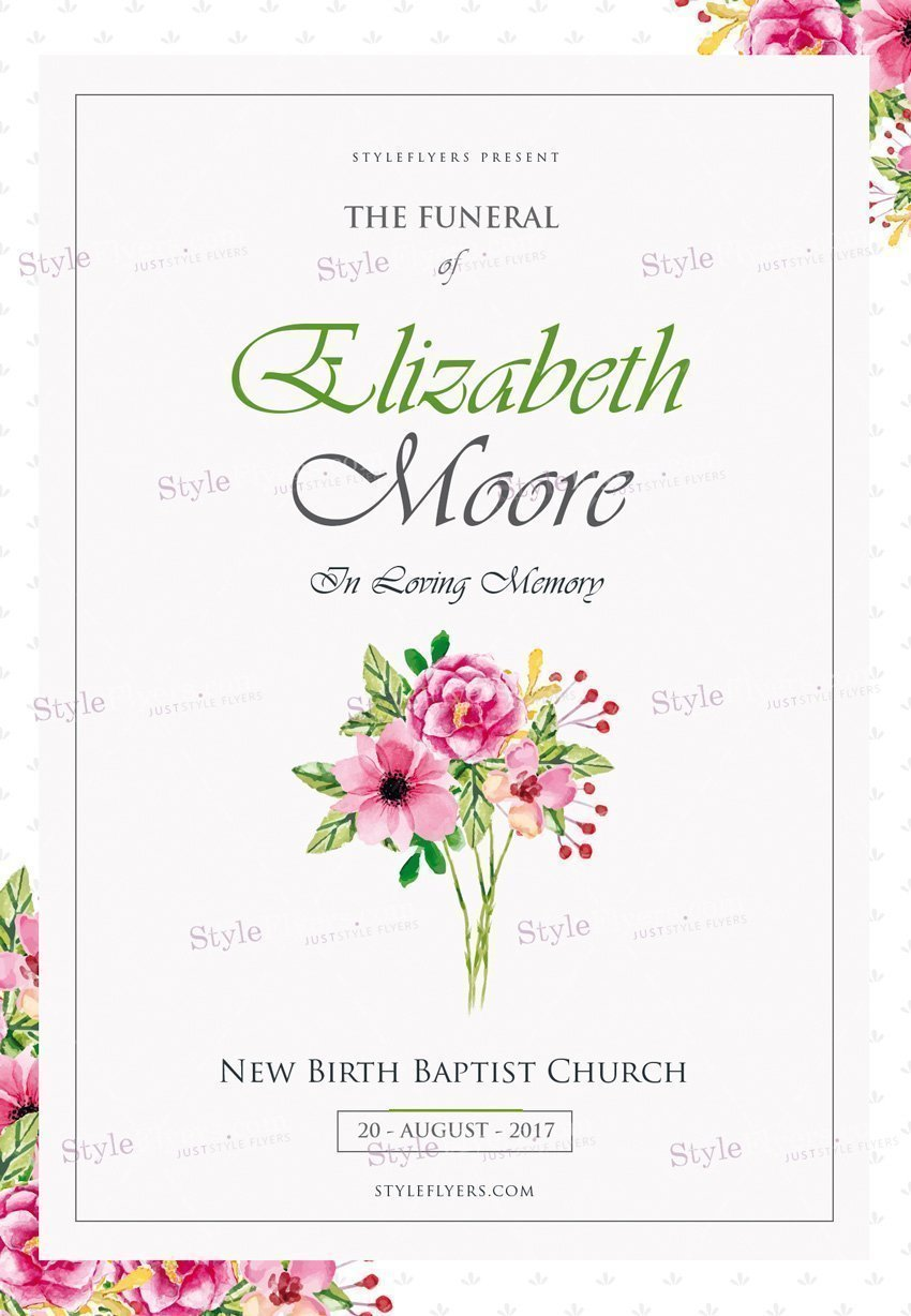 Funeral PSD Flyer Template