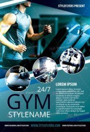 GYM FREE Flyer PSD Template  Free Fitness Flyer Templates