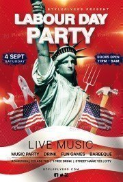 Labour Day Party PSD Flyer Template