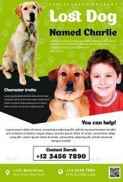 Lost Dog PSD Flyer Template