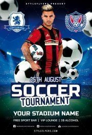Soccer Tournament PSD Flyer Template