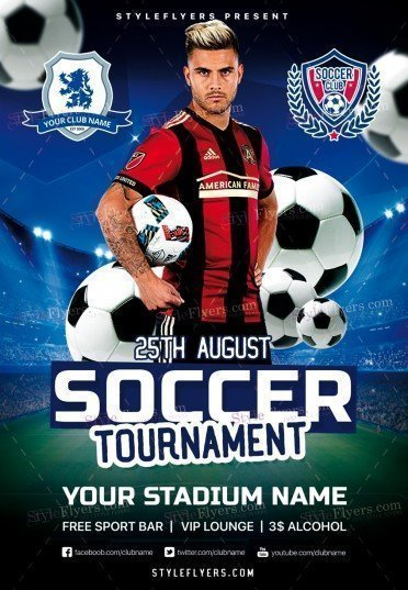 Soccer Tournament Psd Flyer Template   Styleflyers