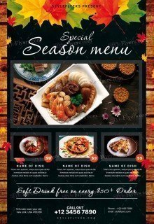 Special Season Menu PSD Flyer Template