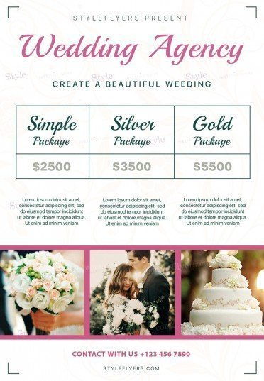 Wedding Agency PSD Flyer Template