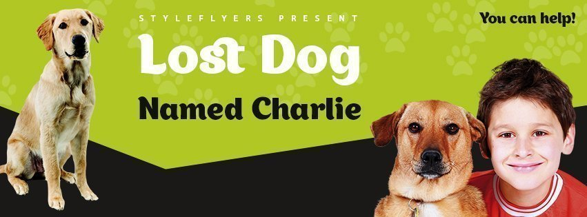 facebook_lost dog_psd_flyer