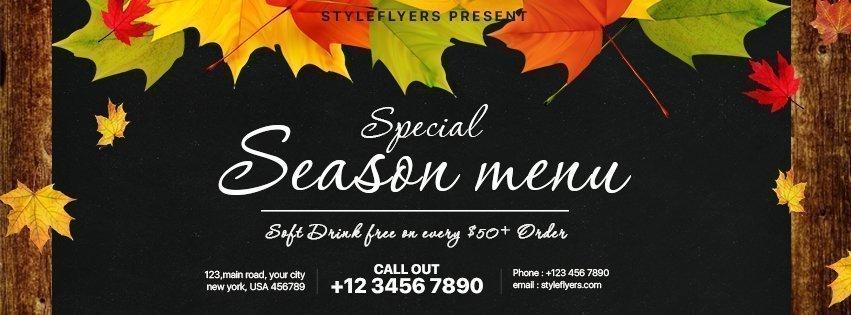 facebook_special season menu_psd_flyer