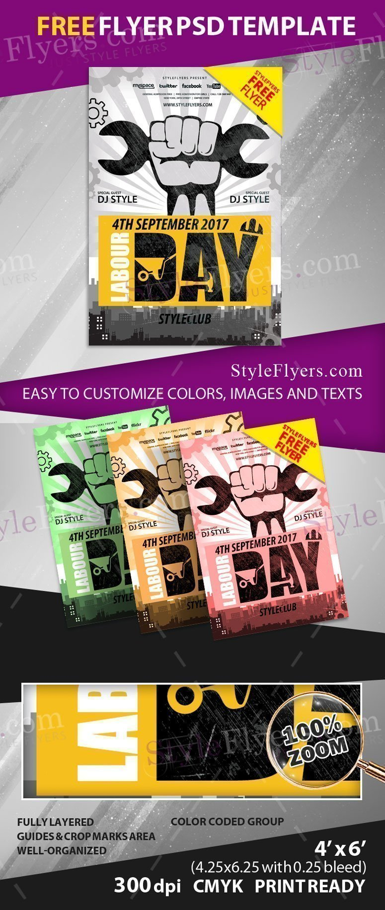 Labor Day Free Psd Flyer Template Free Download 20639 Styleflyers