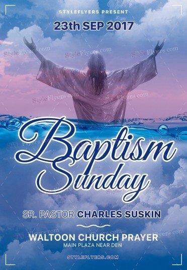 Baptism Sunday PSD Flyer Template