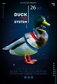 Duck The System PSD Flyer Template