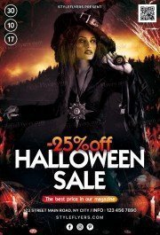Halloween Sale PSD Flyer