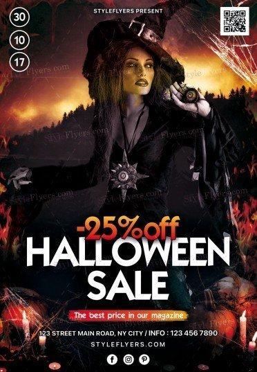 Halloween Sale PSD Flyer
