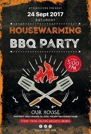 Housewarming-BBQ Party PSD Flyer Template
