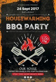 Housewarming-BBQ Party PSD Flyer Template