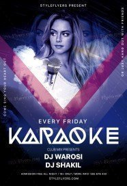 Karaoke PSD Flyer Template