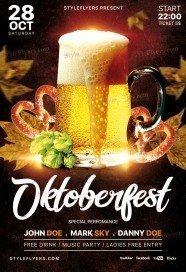 Oktoberfest Festival PSD Flyer Template