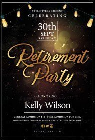 Retirement PSD Flyer Template