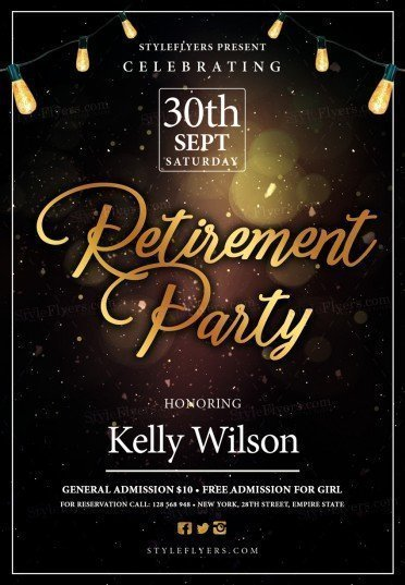 retirement psd flyer template 20781 styleflyers