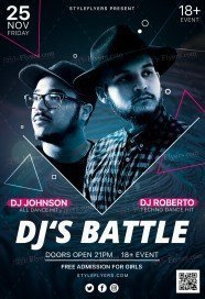 dj's-battle_psd_flyer