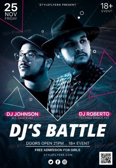 Dj S Battle Psd Flyer