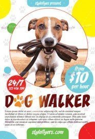 Free Business Flyer PSD Templates Download Styleflyers - Free dog walking flyer template