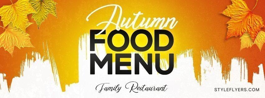facebook_Autumn food menu_psd_flyer