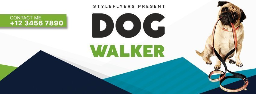 facebook_dog walker_psd_flyer
