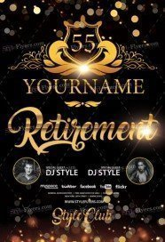 Retirement Free Psd Flyer Template Free Download 20819 Styleflyers
