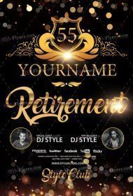 Free party flyer psd templates download styleflyers retirement free psd flyer template pronofoot35fo Gallery