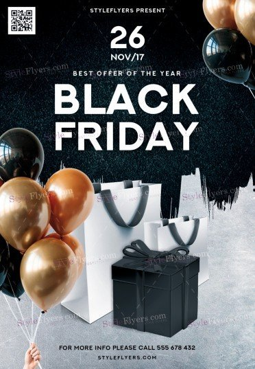 Black Friday PSD Flyer Template