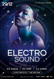 Electro Sound PSD Flyer Template