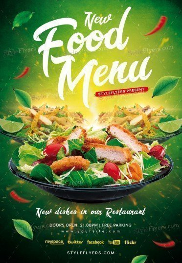 Food Menu Psd Flyer Template   Styleflyers